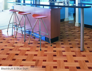 Parquetry Basket Weave Pattern